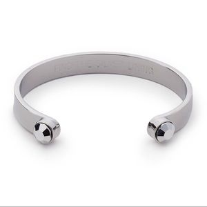 Kate Spade Open Cuff Bracelet - Silver Tone